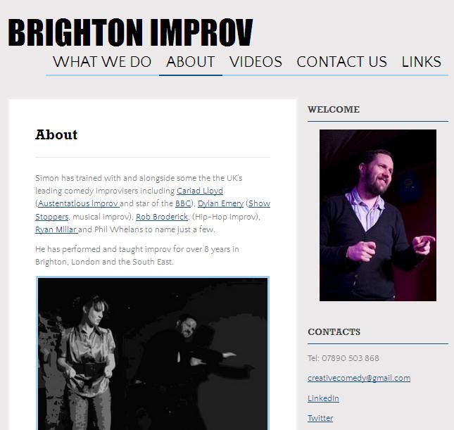 Brightonimprovwebpage